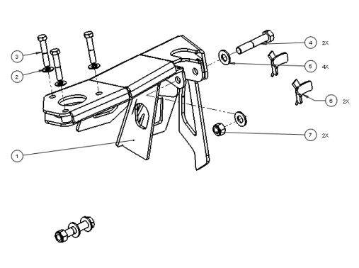 F211895154 15 chevy colorado prerunner kit frame side bypass mount baja kits