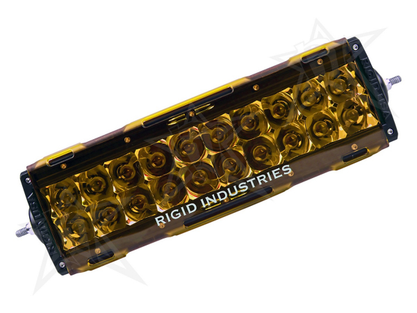 "Rigid Industries - Rigid Industries 10"" E-Series Light Cover - Amber -trim 4"" & 6"""