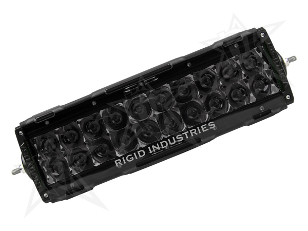 "Rigid Industries - Rigid Industries 10"" E-Series Light Cover - Smoked - trim 4"" & 6"""