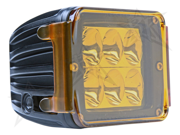 Rigid Industries - Rigid Industries Protective Polycarbonate Cover - Dually/D2 - Amber