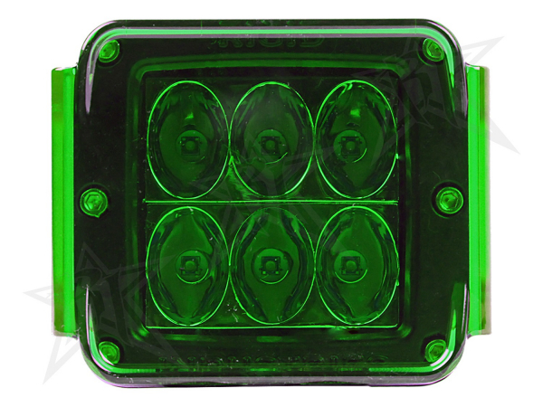 Rigid Industries - Rigid Industries Protective Polycarbonate Cover - Dually/D2 - Green