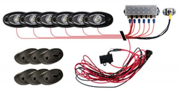 Rigid Industries - Rigid Industries Rock Light Kit- Green (6 lights)