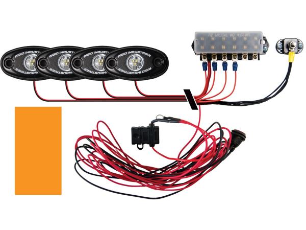 Rigid Industries - Rigid Industries Boat Deck Kit, 4 LIGHTS-AMBER