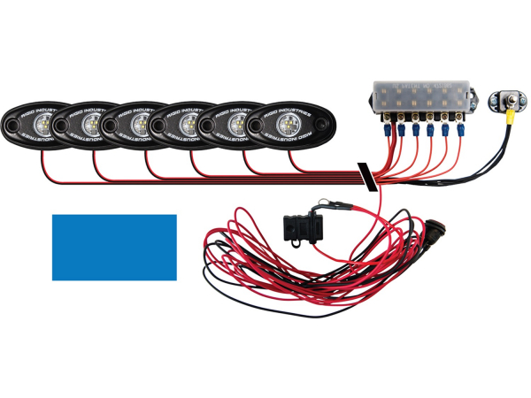 Rigid Industries - Rigid Industries Boat Deck Kit, 6 LIGHTS-BLUE