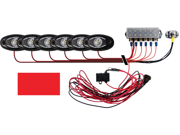 Rigid Industries - Rigid Industries Boat Deck Kit, 6 LIGHTS-RED