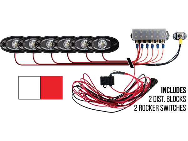 Rigid Industries - Rigid Industries Boat Deck Kit, 6 LIGHTS-2CW 4RD