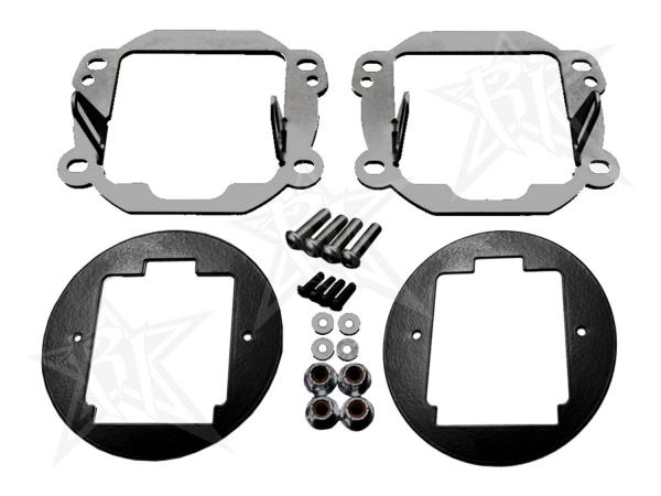 Rigid Industries - Rigid Industries Jeep JK - Fog Light Kit - Mounts set of Dually/d2