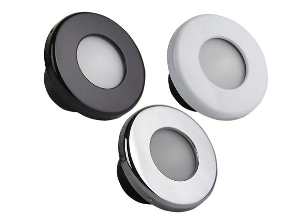 Rigid Industries - Rigid Industries Courtesy Light: CW/Blue, Chrome/White/Black Trim Included