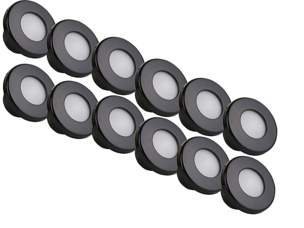 Rigid Industries - Rigid Industries Courtesy 12-Pack: Cool White & Blue, Black Trim Ring