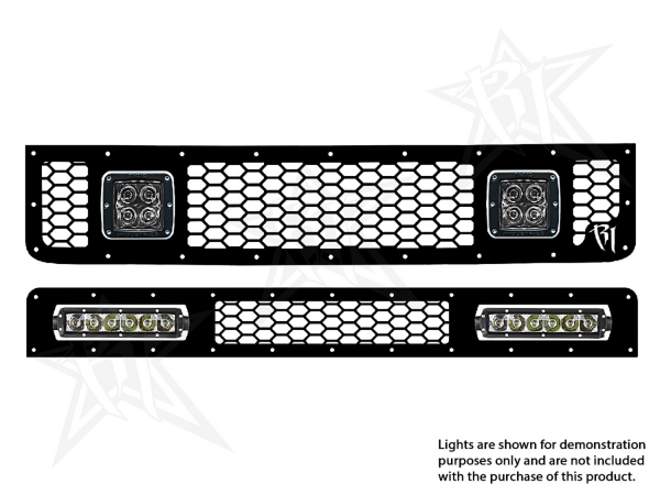 "Rigid Industries - Rigid Industries Toyota FJ - 2005-2013 - Grille Kit - 2X Dually/D2, 2X 6"" SR-Series"
