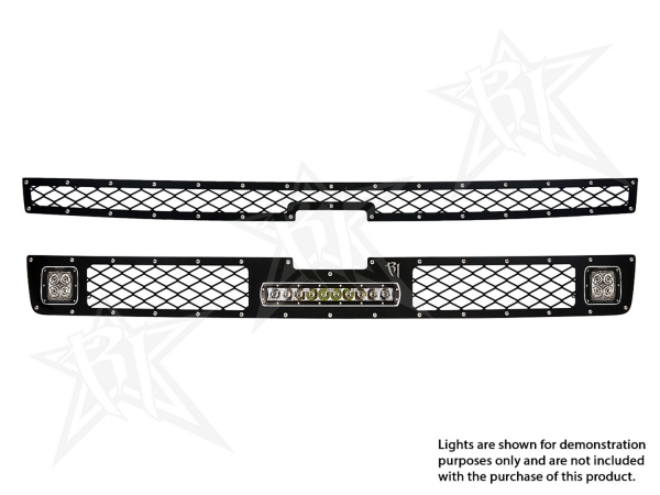 "Rigid Industries - Rigid Industries Chevy 2500/3500 - 2011-2013 Grille Kit - 2XDually/D2, 10"" SR-Series"