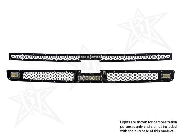 "Rigid Industries - Rigid Industries Chevy 1500 - 2011-2013 Grille Kit - 2XSRM, 6"" SR-Series"