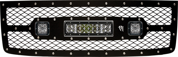 """Rigid Industries - Rigid Industries GMC 1500 2011-2013 Grille Kit- 10"""" E-Series and Pair Dually/D2"""