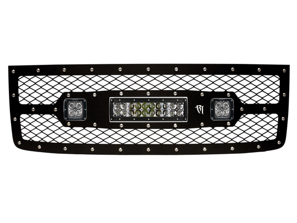 "Rigid Industries - Rigid Industries GMC 2500/3500 2011-2013 Grille Kit - 10"" E-Series and Pair Dually/D2"