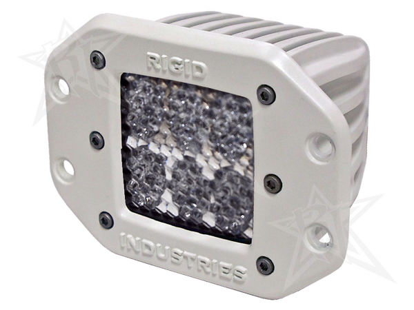 Rigid Industries - Rigid Industries Marine - Flush Mount - D2 - 60 Deg. Lens - Single