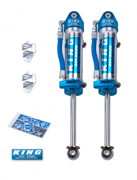 King Shocks - King Shocks Rear 2.5 Piggy Hose Reservoir Shock