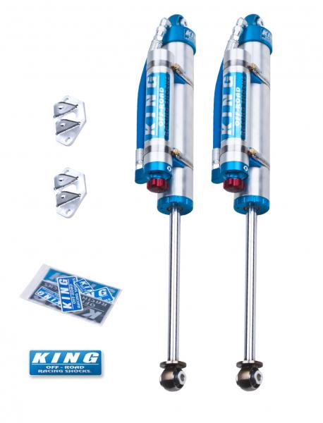 """King Shocks - King Shocks Rear 2.5 Piggy Hose Reservoir For 0-2.5"""" Lifts W/ Adjuster"""