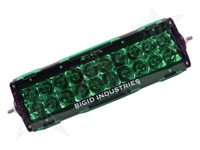 "Rigid Industries - Rigid Industries 10"" E-Series Light Cover - Green - trim 4"" & 6"""