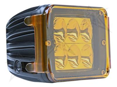 Light Covers - D-Series/D-Series HD Covers - Rigid Industries - Rigid Industries Protective Polycarbonate Cover - Dually/D2 - Amber