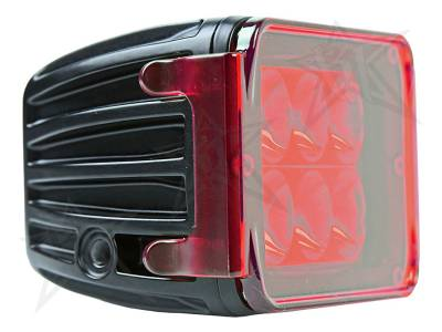 Light Covers - D-Series/D-Series HD Covers - Rigid Industries - Rigid Industries Protective Polycarbonate Cover - Dually/D2 - Red