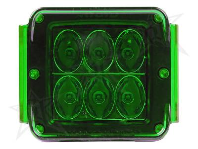 Light Covers - D-Series/D-Series HD Covers - Rigid Industries - Rigid Industries Protective Polycarbonate Cover - Dually/D2 - Green