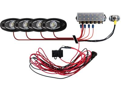 Marine LED Lights - Boat Deck Light Kit - Rigid Industries - Rigid Industries Boat Deck Kit, 4 LIGHTS-CW
