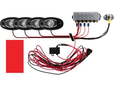Marine LED Lights - Boat Deck Light Kit - Rigid Industries - Rigid Industries Boat Deck Kit, 4 LIGHTS-RED