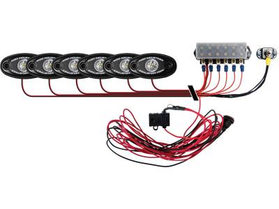 Marine LED Lights - Boat Deck Light Kit - Rigid Industries - Rigid Industries Boat Deck Kit, 6 LIGHTS-COOL WH