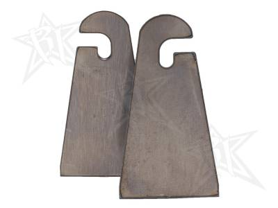 Accessories - Installation Accessories - Rigid Industries - Rigid Industries Weld-On Slotted Tab (Pair) - Flat Base