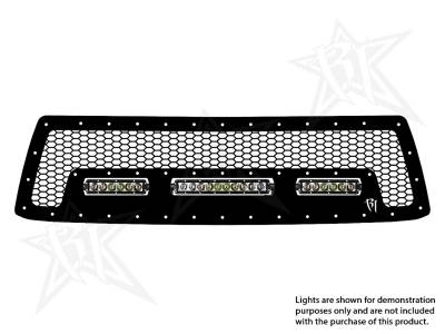 "Vehicle Specific - Toyota Tundra - Rigid Industries - Rigid Industries Toyota Tundra - 2010-2013 Grille Kit #2 - 10"" SR-Series, 2X 6""SR-Series"