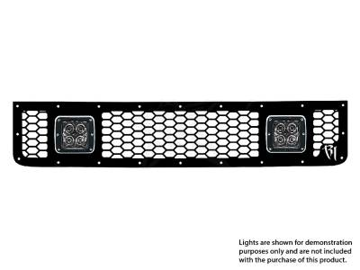 Vehicle Specific - Toyota FJ Cruiser - Rigid Industries - Rigid Industries Toyota FJ- 2005-2013 - Upper Grille Kit ONLY/ 2xDually/D2