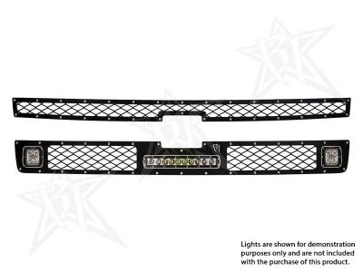 "Vehicle Specific - Chevrolet Silverado 2500/3500 - Rigid Industries - Rigid Industries Chevy 2500/3500 - 2011-2013 Grille Kit - 2XDually/D2, 10"" SR-Series"