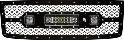 "Vehicle Specific - GMC Sierra 1500 - Rigid Industries - Rigid Industries GMC 1500 2011-2013 Grille Kit- 10"" E-Series and Pair Dually/D2"