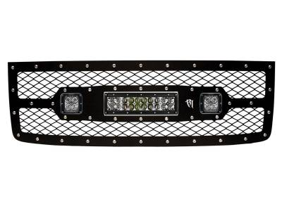 "Vehicle Specific - GMC Sierra 2500/3500 - Rigid Industries - Rigid Industries GMC 2500/3500 2011-2013 Grille Kit - 10"" E-Series and Pair Dually/D2"