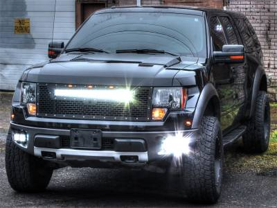 """Vehicle Specific - Ford F-150 Raptor - Rigid Industries - Rigid Industries 2010-2014 Ford Raptor Grille (w/ front camera) - Fits 30"""" RDS Series Light"""