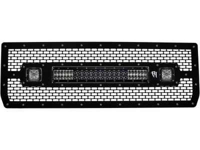"Vehicle Specific - GMC Sierra 1500 - Rigid Industries - Rigid Industries 2014 Grille Kit, 20"" E Series / 2 D-Series"