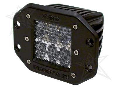 D-Series Lights - D2 - Rigid Industries - Rigid Industries D2 - Flush Mount - 60 Deg. Lens - Single