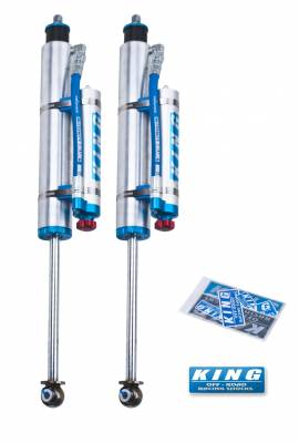 "King Shocks - King Shocks Rear 2.5 Piggy Hose Shock For 2"" Lifts W/ Adjuster"