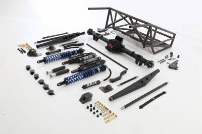 Silverado/Sierra 1500 14-18 - Race Kits - Baja Kits - 14+ Chevy Silverado 2WD Long Travel Back Half 4-Link Race Kit - Rear
