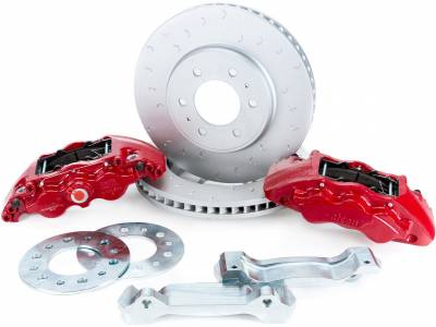 Raptor 09-14 - Race Kits - 2009-2018 F150 & Raptor Alcon 6-Piston Front Big Brake Kit BKF1559BE11