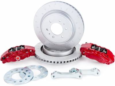Truck Suspension - 2009-2018 F150 & Raptor Alcon 4-Piston Rear Big Brake Kit BKR5059D07